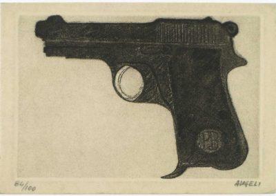 Franco Angeli incisione cm,14x19,5