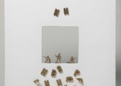 Jean Francois Bury Untitled 2005 collage e oro spray su tela cm.60 x60
