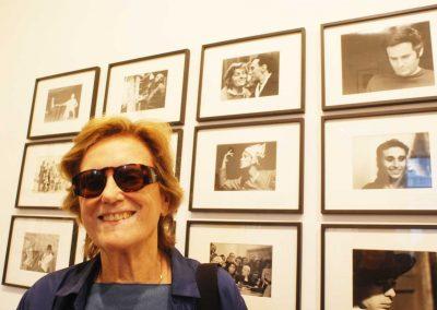 Liliana Cavani_sullo sfondo la foto con amodio sul set de